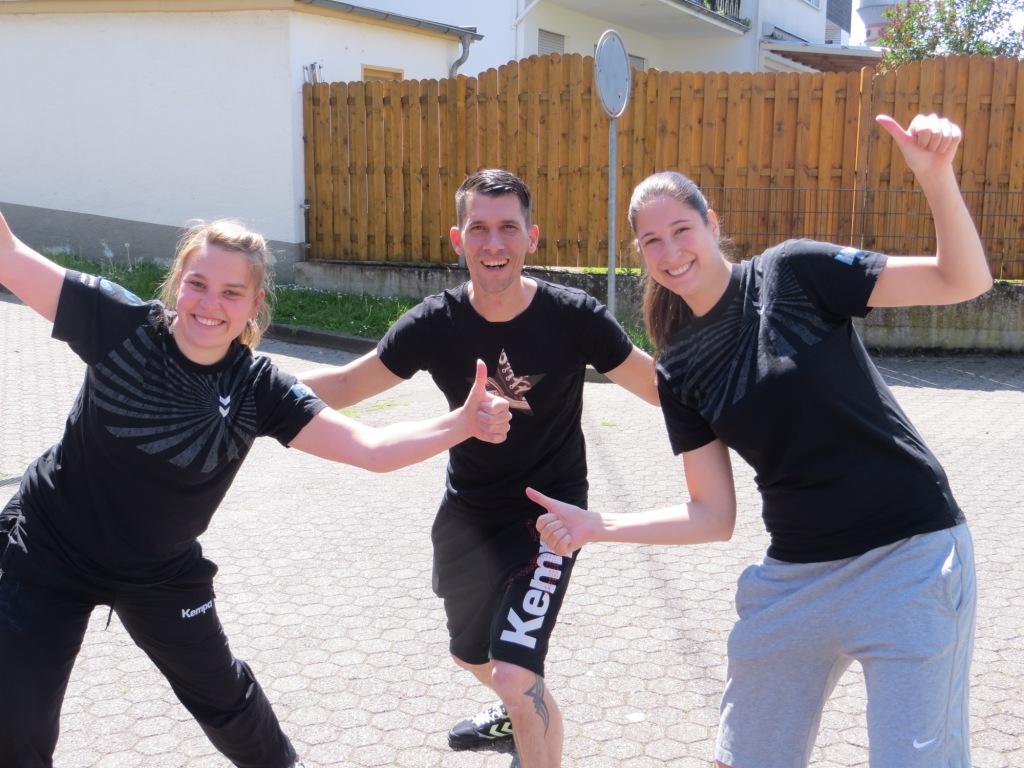 Sie waren froh, dass das erste Fördertraining so gut gelaufen war: Anne Kinzer, Jörg Simon, Alexandra Irmgartz-Oberländer