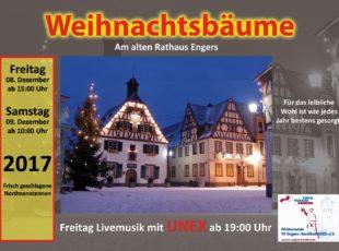 TV Engers: Wieder Weihnachtsbäume in Engers vor dem Alten Rathaus