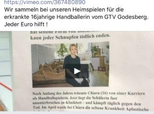 Spendenaktion für Chiara vom Godesberger TV