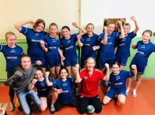 Weibliche D Jugend gewinnt zu Hause mit toller Leistung 21:3 (11:1)gegen den TV Arzheim